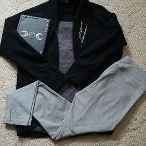 Kyodan Micro Stripe Warm Sweater Leggings